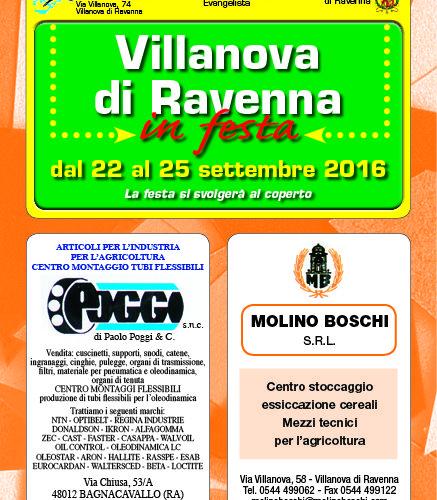 Villanova di Ravenna in festa 2016 – SAGRA PAESANA